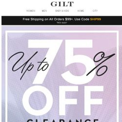 [Gilt] Don't Snooze on This: Up to 75% Off Clearance