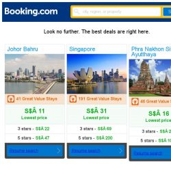 [Booking.com] Johor Bahru, Singapore, or Phra Nakhon Si Ayutthaya? Get great deals, wherever you want to go