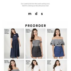 [MDS] The Wait Is Over! | Our Arriving Soon Items are available for Pre-Order Now