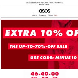 [ASOS] Extra 10% off on sale – go!