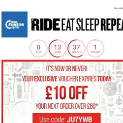 [Chain Reaction Cycles] Your voucher expires TODAY! 🎆