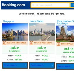 [Booking.com] Singapore, Johor Bahru and Phra Nakhon Si Ayutthaya -- great last-minute deals as low as S$ 11!