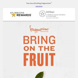 [Starbucks] Bring on the fruit