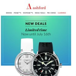 [Ashford] 🚨 Weekly Deals