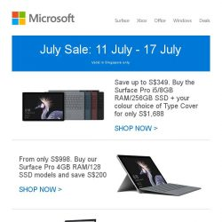 [Microsoft Store] July Sale (ends 17 July): Great savings on Surface and Xbox