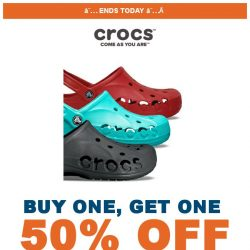 [Crocs Singapore] 【ENDS TODAY】 Don't miss the chance to get 50% off on second pair‼