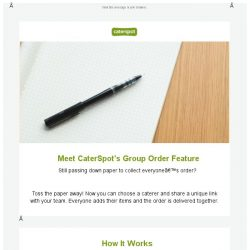 [CaterSpot] New - Group ordering feature!