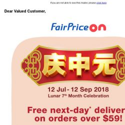 [Fairprice] Shop with us for your 7th Month Needs!