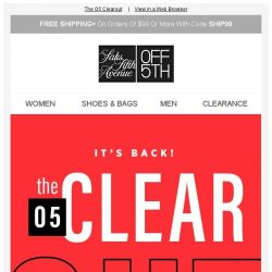 [Saks OFF 5th] PRICE DROP alert for your Superdry item! + Up to 80% OFF clearance for your closet!