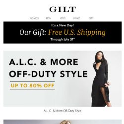 [Gilt] Up to 80% Off A.L.C. & More | Up to 50% Off Stella McCartney & More British Designers