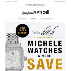 [Last Call] This rarely happens! You're getting MICHELE WATCHES & more 55% off