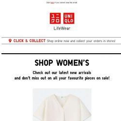 [UNIQLO Singapore] All In One - This Week's New Arrivals & Sale