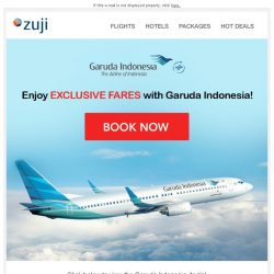 [Zuji] BQ.sg: Exclusive Fares on Garuda Indonesia from $282 only