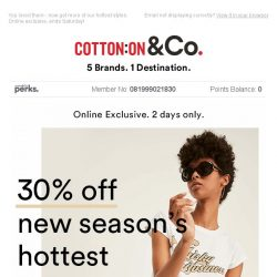 [Cotton On] 30% off 1000s of your faves
