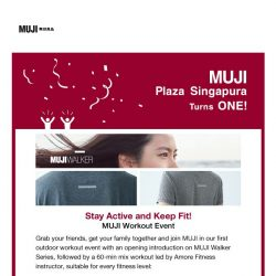 [Muji] A Simple, Pleasant Life with MUJI (Mass Workout Event)