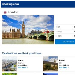 [Booking.com] Deals in London from S$ 153