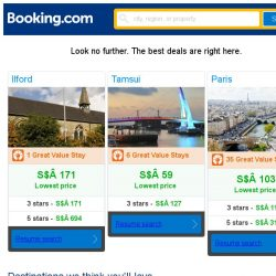 [Booking.com] Ilford, Tamsui, or Paris? Get great deals, wherever you want to go