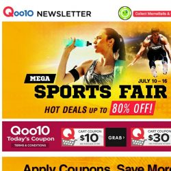 [Qoo10] UP TO 80% OFF IN OUR MEGA SPORTS FAIR! | Get all your sporting needs today! 🚴 Buy Oral-B Electric Toothbrush Got Free GRAB Voucher Worth $20
