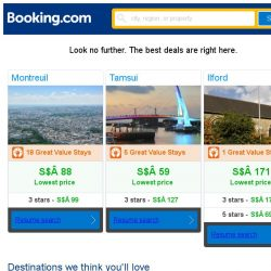 [Booking.com] Montreuil, Tamsui, or Ilford? Get great deals, wherever you want to go