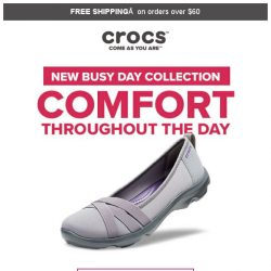 [Crocs Singapore] Busy day❓ What you need is the Busy day❗ Meet our new Busy day collection that will make your day