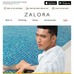 [Zalora] ⚡ FLASH SALE: Extra 20% Off  - 3 hours only!