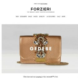[Forzieri] What's New: GEDEBE, Moschino, and Furla