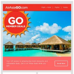 [AirAsiaGo] 💌 Member Deals - Get minimum 50% Off or more! 💌