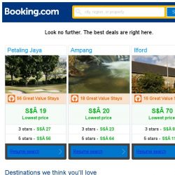 [Booking.com] Petaling Jaya, Ampang, or Ilford? Get great deals, wherever you want to go