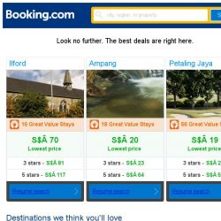 [Booking.com] Ilford, Ampang, or Petaling Jaya? Get great deals, wherever you want to go