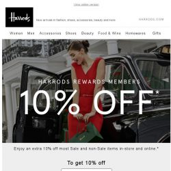 [Harrods] From Us, To You | 10% Off
