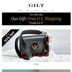 [Gilt] Up to 50% Off FENDI | Up to 80% Off All-New Price Cuts