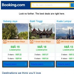 [Booking.com] Subang Jaya, Bukit Tinggi, or Kuala Lumpur? Get great deals, wherever you want to go
