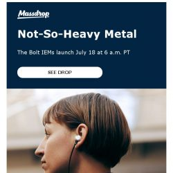 [Massdrop] Massdrop x HIFIMAN Bolt In-Ear Monitors: Available Wednesday