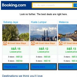 [Booking.com] Subang Jaya, Kuala Lumpur, or Malacca? Get great deals, wherever you want to go