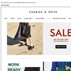 [Charles & Keith] CHARLES & KEITH | End-of-Season Sale - Further Reductions