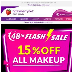 [StrawberryNet] 48 Hrs ONLY: 15% Off Makeup ⚡ FLASH SALE ⚡