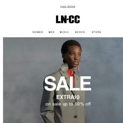 [LN-CC] Just for you! Sale up to 60% OFF + Extra 10%