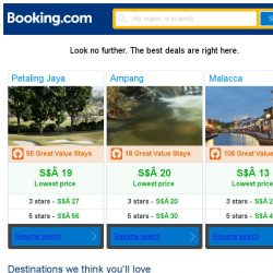 [Booking.com] Petaling Jaya, Ampang, or Malacca? Get great deals, wherever you want to go