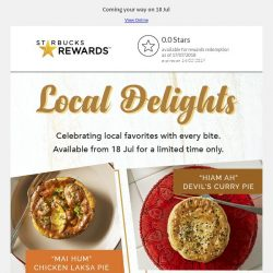 [Starbucks] Local-inspired delights and new delicious treats