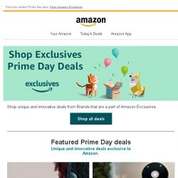 [Amazon] Unique Prime Day deals - Amazon Exclusives