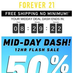 [FOREVER 21] STOP! You'll Miss This: 50% OFF
