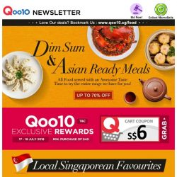[Qoo10] Dim Sum Cravings, Anyone? Check Out Delicious Asian Ready Meals, Up to 70% Off Today! Oh... so yummy!