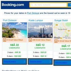 [Booking.com] Prices in Port Dickson dropped again – act now and save more!