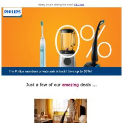 [PHILIPS] Enjoy up to 50%* off selected Philips products at our exclusive members private sale!