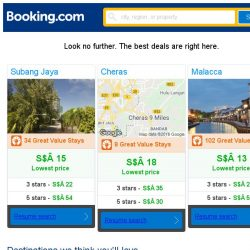 [Booking.com] Subang Jaya, Cheras, or Malacca? Get great deals, wherever you want to go