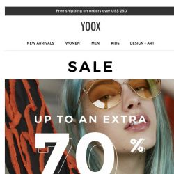 [Yoox] Sale up to an EXTRA 70% OFF even more items