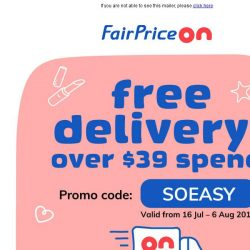 [Fairprice] Enjoy free delivery with over $39 spend