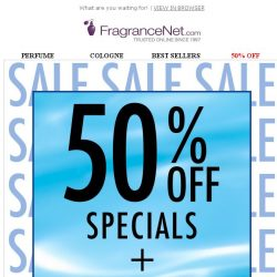 [FragranceNet] HURRY! New Markdowns – Plus 30% OFF!