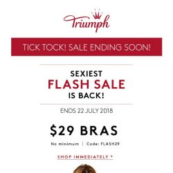 [Triumph] ⏰ Tick Tock! This Sale Is Ending Soon