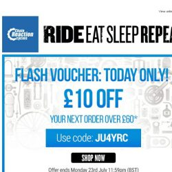 [Chain Reaction Cycles] Flash Voucher! Ready. Steady. GO! 🏁